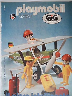P.70.19  Pubblicita' Advertising Playmobil System Gig 1970 Clipping fumetto