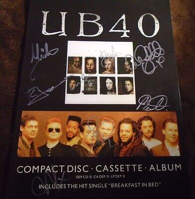 UB40 Signed A4 Print With all the Band Together **ULTRA RARE**