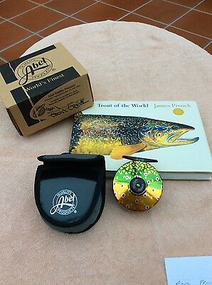 Abel Prosek Super 4 brook trout reel- limited edition, No 24 of 100. 4/5 wt line