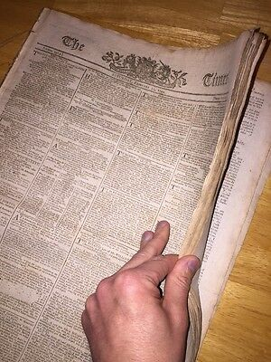 1794 French Revolution Bound Newspaper Collection- 12 Original Newspapers!