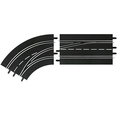 Carrera Digital 132/124 Slot Car Racing Lane Change Left Curve Track Out to In
