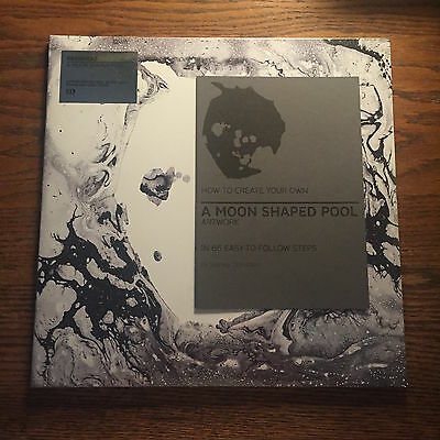 Radiohead A Moon Shaped Pool OPAQUE WHITE Vinyl + Booklet RARE Stanley Donwood