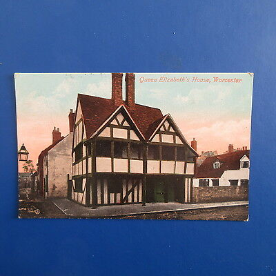 Old Postcard of Queen Elizabeth's House, Worcester.