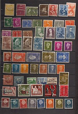 Netherlands.  c1940-1965. A collection of  77 used stamps.