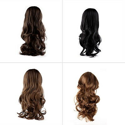 Fashion Lovely Women Girl Wig Long Wavy Curly Hair Cosplay Party Wigs ZXHAPPY