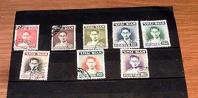 Set Of 8 Fine Used Siam [Thailand] Stamps.