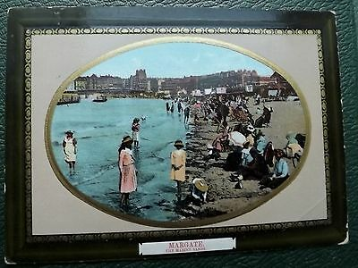 TWO VINTAGE POSTCARD KENT MARGATE  Sea Front Posted 1906-11