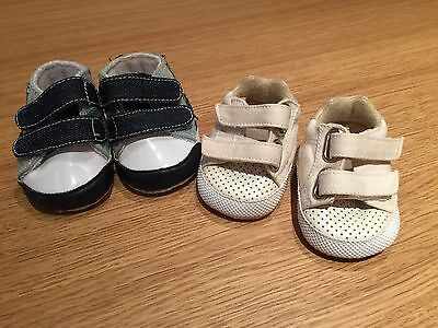 2 Pairs Boys' Baby Shoes Size 0-3 Months