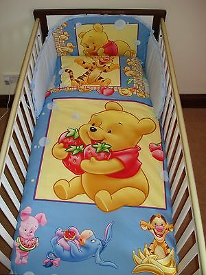 Disney Winnie & Strawberries Bedding Set for Cot or Cotbed