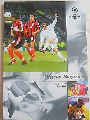 2002/2003 Champions League Group Stage 1 Official Magazine