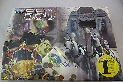 """Jigsaw Puzzle 550 Piece """"Horse & Carriage Montage"""" Guild; Sealed New"""