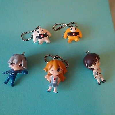 Neon Genesis Evangelion NGE Vintage Collectible Chibi Keychains Asuka Angels