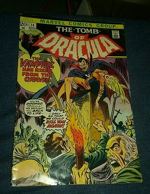 Tomb of Dracula 14 FN 6.0 out of 10 condition early blade appearance first print