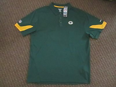 Green Bay Packers Nfl Polo / Leisure Shirt - Reebok - Size Xl - Nwt!