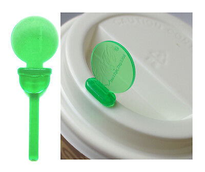 Coffee Cup Lid Sip Hole Plug Stopper Avoid Spills Stix To Go Green Pack of 200