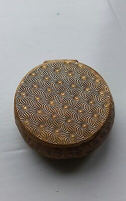Brass Detailed Pill Style Box With Mirror