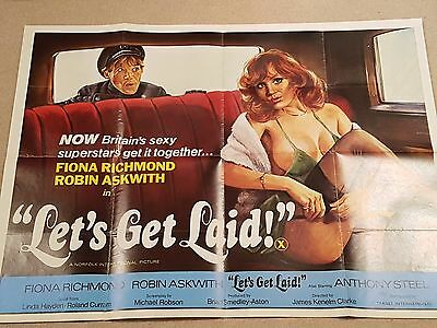 Lets Get Laid - Original UK Quad Poster (Fiona Richmond, Robin Askwith)