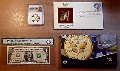 2016 Coin And Currency Ngc Pmg Graded Code Talkers Sp70 Coin Epq 66 Currency