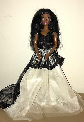 Beautiful Christie Barbie Doll In Gown