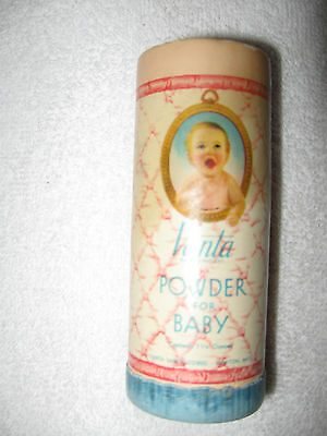 Vintage Full Vanta Baby Talc Powder Cardboard (not Tin) Container Can 4inch Tall