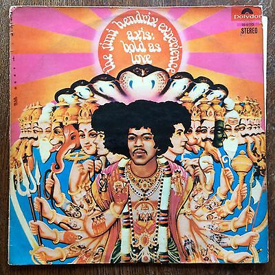 Jimi Hendrix Experience Axis Bold As Love 1st Israeli Press LP 1968