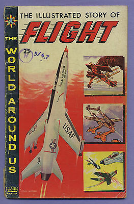 The World Around Us #8 1959 Story of Flight Classic Illustrated Publications s