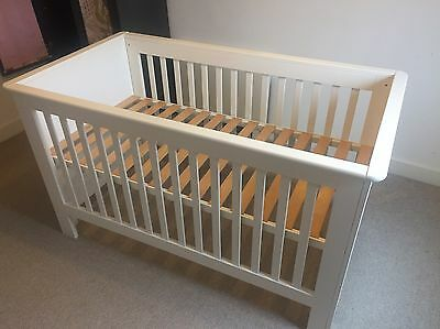 White Cot Bed - John Lewis - Excellent condition