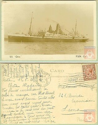 Angleterre - PAQUEBOT - ORITA - Posted at Sea 1926 - Cristobal Canal Zone
