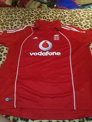 Mens england cricket top size large adidas vodafone 3 lions