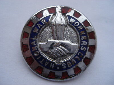 Cww2 Vintage National War Workers Clubs Enamel Pin Badge