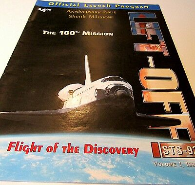 NASA 100th MISSION LAUNCH PROGRAM STS-92 RARE SPACE SHUTTLE