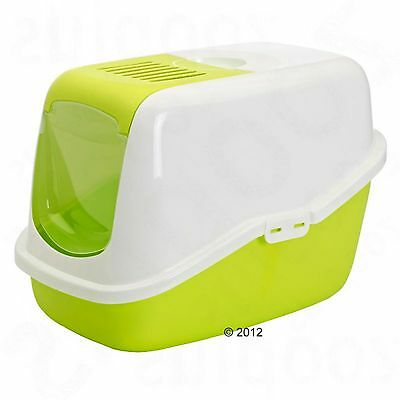 Savic Nestor Hooded Cat Litter Box  Cats Pets Toilet Tray Kitten Carbon Filter