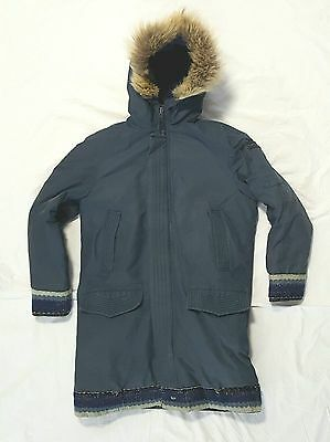 Expedition Parka Down Rice Sportswear Blue Size M Wolf Fur Trim Made In Canada