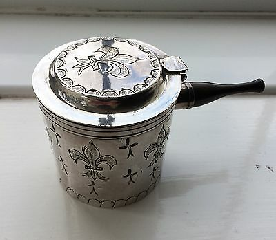 Military Field officers Silver chocolate /coffee cup/pot Paris 1798-1809
