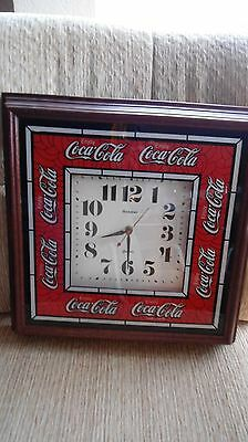Vintage Coca-Cola Wall Clock Hanover wood frame battery operated
