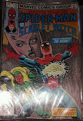 Marvel team up spiderman and the scarlet witch