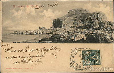 Italy Cefalu View of Town Postcard
