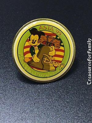Disney LE 300 Pin ASTA 1995 Mickey with Liberty Bell Philadelphia PA VERY RARE