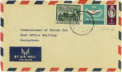 BRITISH GUIANA 2 x AIRMAIL FRONT 14 MY 1966, LOCAL USE, 7c RATE & ANOTHER COVER