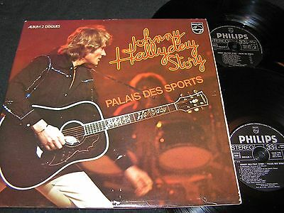 JOHNNY HALLYDAY Story - Palais Des Sports / French DLP 1976 PHILIPS 6641559
