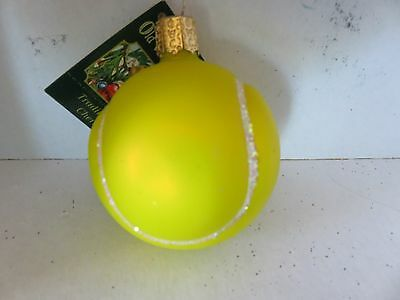 Tennis ball   Old World Christmas  glass ornament