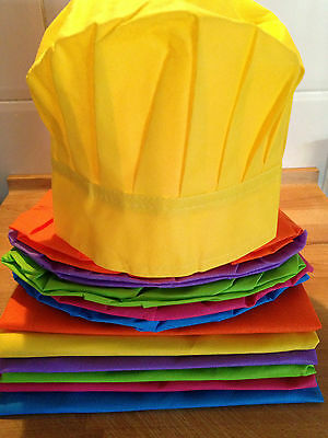Kids Cooking Party Pack-10 x kids aprons & 10 x chef hats-Multi-Coloured