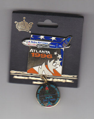 Delta Airlines 1996 Olympic  Pin  Offical Airline 1996 Olympics