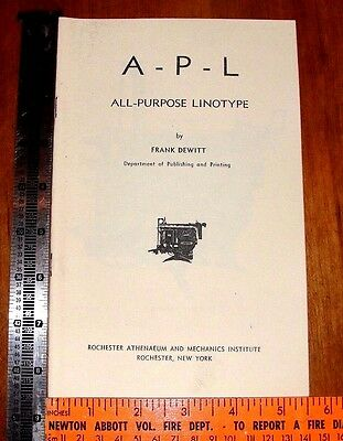 "letterpress printing ""ALL-PORPOSE LINOTYPE""  COPIED BOOK"