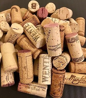 50 Wine Corks 100% Natural. No Synthetic/Broken Corks. For Crafts & Hobbies