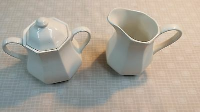 Vintage J&G Meakin Royal Staffordshire Liberty Cream and Sugar Jar and Pitcher
