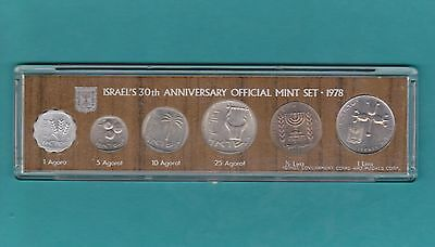 The  Israel Official Mint 1978 Coins Set  In Present Case .