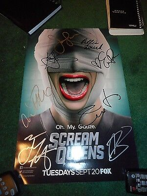 "Scream Queens - 2016 Sdcc 11"" X 17"" Poster Signed By Cast - Emma Roberts"