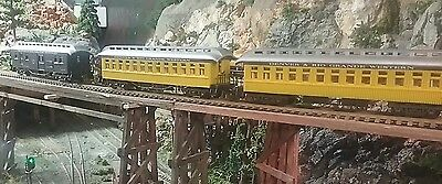 3 old time passenger coaches
