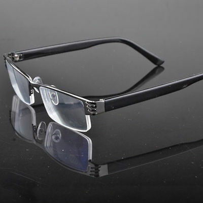 Stylish Metal Reading Glasses Eyewear Coating High Quality Half-Frame 1.0 To 4.0